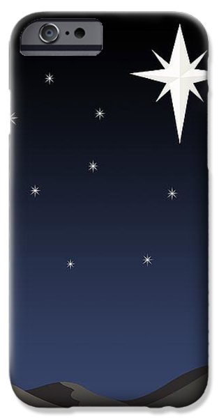 Three Wisemen Following Star iPhone Case by Daniel Sicolo