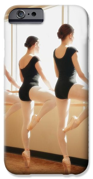 Practise iPhone Cases - Three Women Practicing Dance iPhone Case by Don Hammond