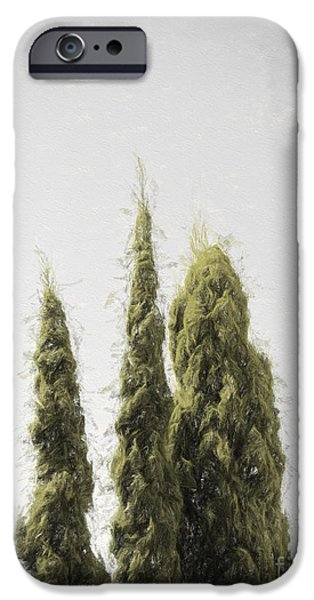 Botanic Illustration iPhone Cases - Threes - Without a sound iPhone Case by Ryan Jorgensen