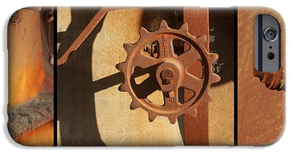 Dirty iPhone Cases - Threshing Machine Triptych iPhone Case by Art Block Collections