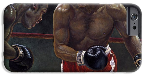 Icon Mixed Media iPhone Cases - Thrilla in Manilla iPhone Case by Gregory Perillo