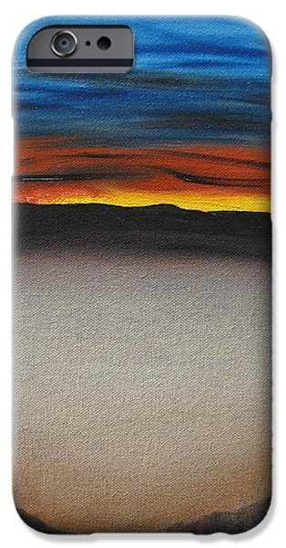 Bob Ross Paintings iPhone Cases - Thriving In The Desert iPhone Case by Sayali Mahajan