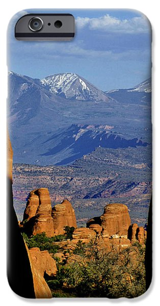 Slickrock iPhone Cases - Through a Crack iPhone Case by Jeremy Rhoades