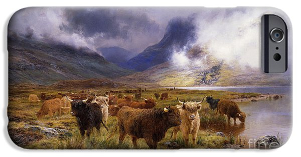 Mist Paintings iPhone Cases - Through Glencoe by  Way to the Tay iPhone Case by Louis Bosworth Hurt