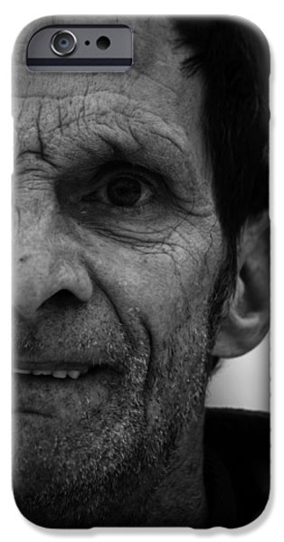Portrait Of Old Man iPhone Cases - Through Liverpool  iPhone Case by Jerry Cordeiro