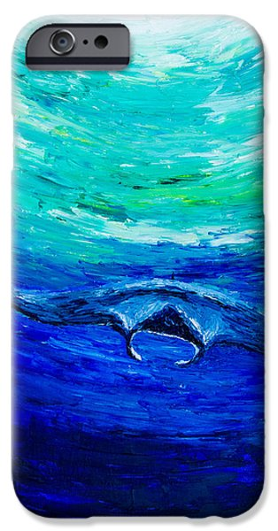 Sun Rays Paintings iPhone Cases - Through the Deep iPhone Case by Alexandra Nicole Newton