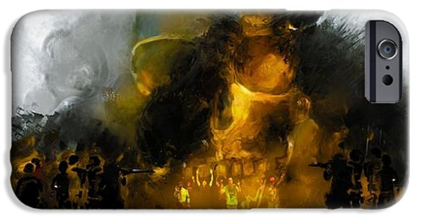 Michael Mixed Media iPhone Cases - Through the Fire  iPhone Case by Howard Barry