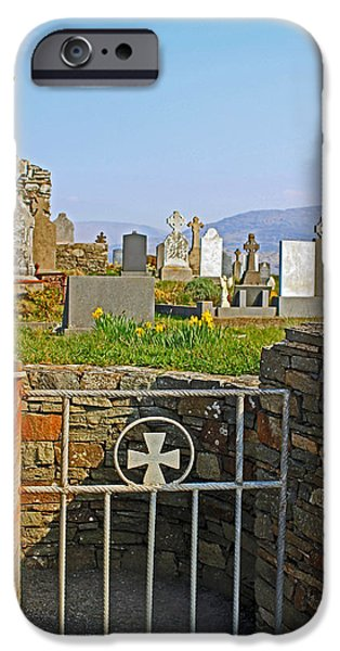 Cemetary iPhone Cases - Through the Gate iPhone Case by Jennifer  Robin