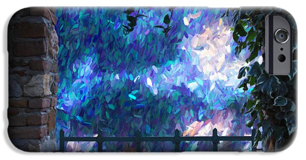 Abstract Digital Mixed Media iPhone Cases - Through The Gate iPhone Case by Georgiana Romanovna