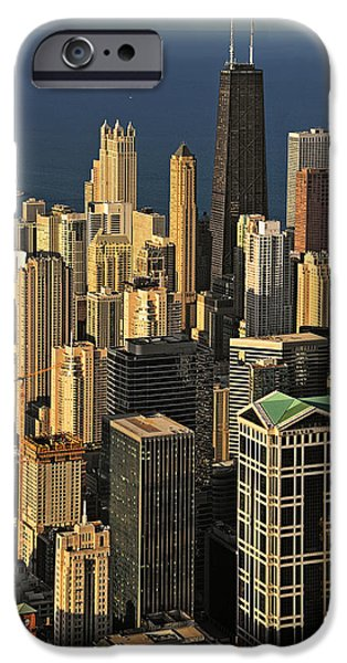 Interior Scene iPhone Cases - Through the haze Chicago shines iPhone Case by Christine Till