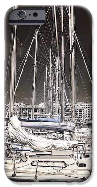 Through the Masts iPhone Case by John Rizzuto