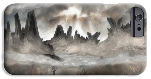 Sheets iPhone Cases - Through The Mist iPhone Case by Jack Zulli