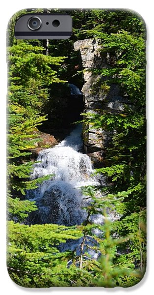Randy Moss Photographs iPhone Cases - Through the trees iPhone Case by Randy Giesbrecht