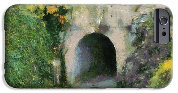 Pathway Mixed Media iPhone Cases - Through The Tunnel iPhone Case by Dan Sproul