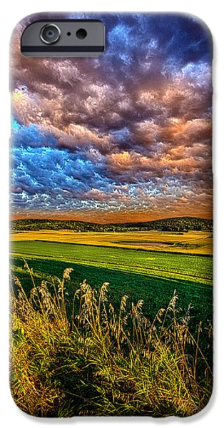 Valley iPhone Cases - Through the Valley iPhone Case by Phil Koch