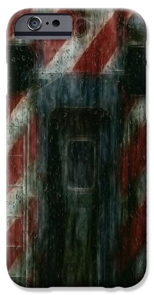Painter Photo Digital Art iPhone Cases - Through The Window On A Rainy Day In May iPhone Case by Jack Zulli