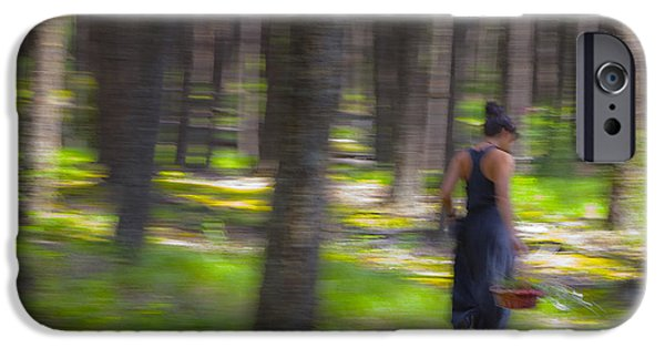Impressionist Photography iPhone Cases - Through The Woods 2 iPhone Case by Theresa Tahara