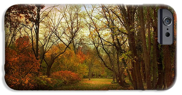 Autumn Woods iPhone Cases - Through the Woods iPhone Case by Jessica Jenney