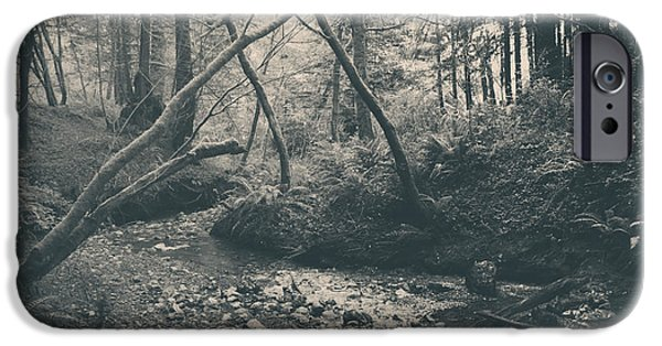Creek iPhone Cases - Through the Woods iPhone Case by Laurie Search