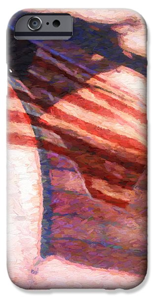 Star Spangled Banner Paintings iPhone Cases - Through War and Peace iPhone Case by Bob Orsillo