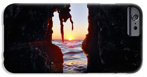 Lighthouse iPhone Cases - Thru the Hole iPhone Case by Mark Lemmon