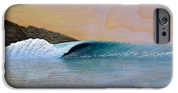 Ocean Reliefs iPhone Cases - Thunder at the Break of Dawn iPhone Case by Nathan Ledyard