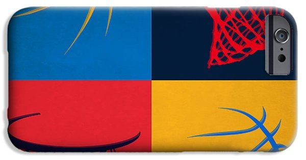 Dunk iPhone Cases - Thunder Ball And Hoop iPhone Case by Joe Hamilton