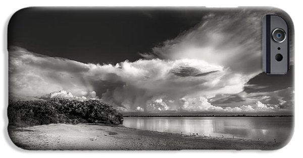 Park Scene iPhone Cases - Thunder Head Comming BW iPhone Case by Marvin Spates