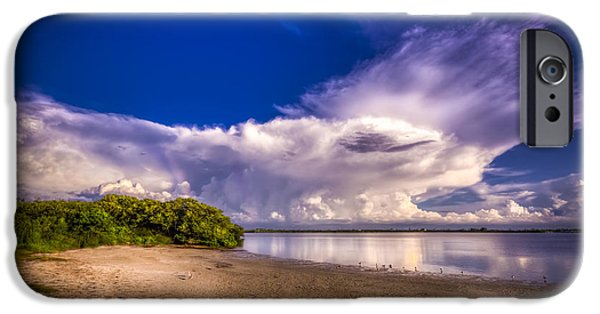 Park Scene iPhone Cases - Thunder Head Comming iPhone Case by Marvin Spates