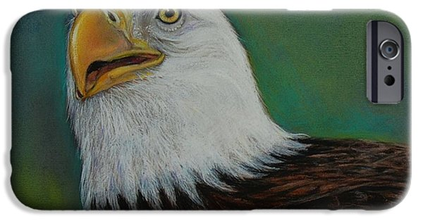 Eagle Pastels iPhone Cases - Thunder iPhone Case by Jean Cormier