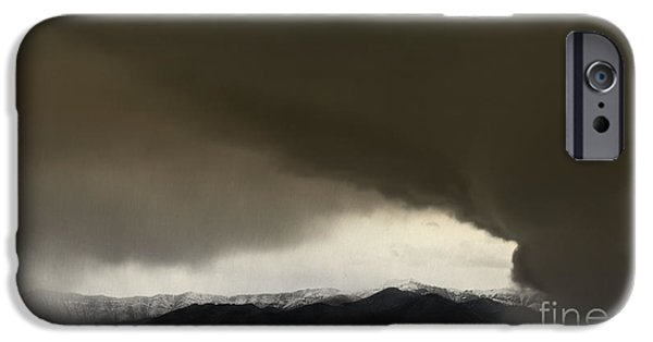 Turbulent Skies iPhone Cases - Thunder Snow iPhone Case by Wildlife Fine Art