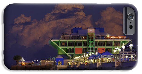 St. Petersburg iPhone Cases - Thunder Storm at the Pier iPhone Case by Marvin Spates