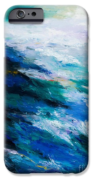 Storms Paintings iPhone Cases - Thunder Tide iPhone Case by Larry Martin