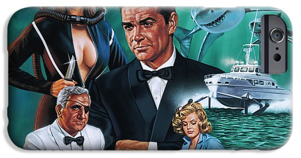 Ian iPhone Cases - Thunderball iPhone Case by Dick Bobnick