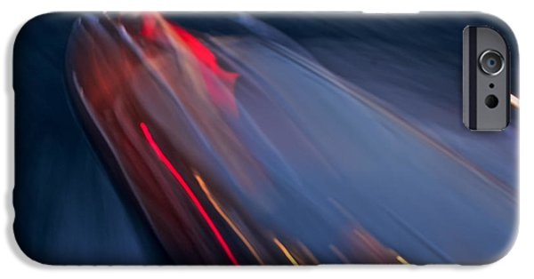 Mahogany Red iPhone Cases - Thunderbird at Night iPhone Case by Steven Lapkin