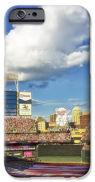Thunderbird Flyover at Target Field for All Star Game iPhone Case by Mountain Dreams