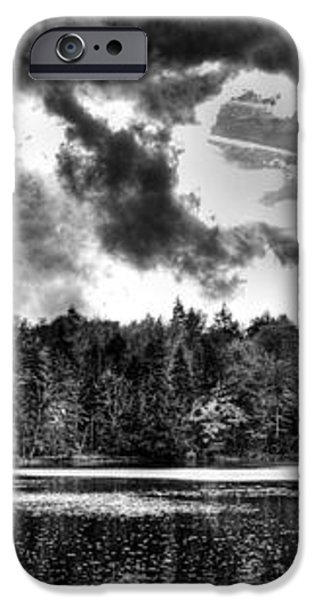 Thunderclouds over Cary Lake iPhone Case by David Patterson