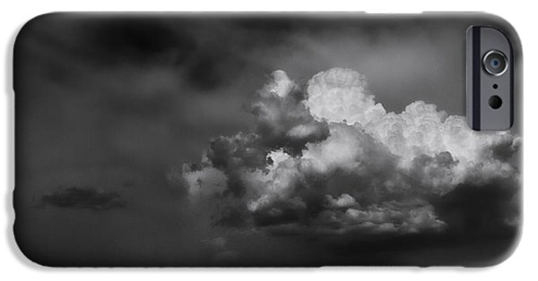 Olympus iPhone Cases - Thunderhead Over Superstition Mountain iPhone Case by Jesse Castellano