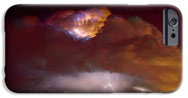 Lightning Images iPhone Cases - Thunderstorm Boulder County Colorado   iPhone Case by James BO  Insogna