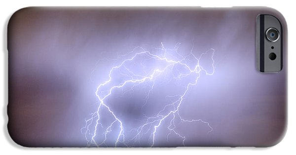 Electrical iPhone Cases - Thunderstorm Triple Threat iPhone Case by James BO  Insogna