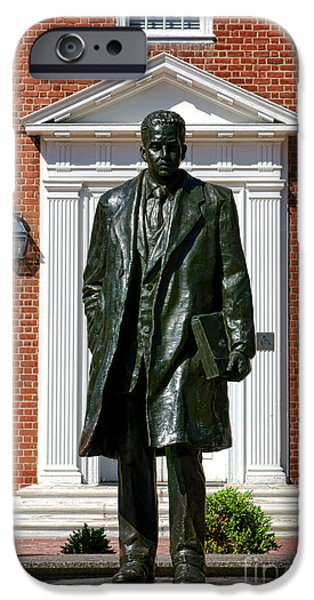 Annapolis Maryland iPhone Cases - Thurgood Marshall Statue iPhone Case by Olivier Le Queinec