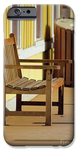 Empty Chairs iPhone Cases - Thurmond Train Station iPhone Case by Melissa Petrey
