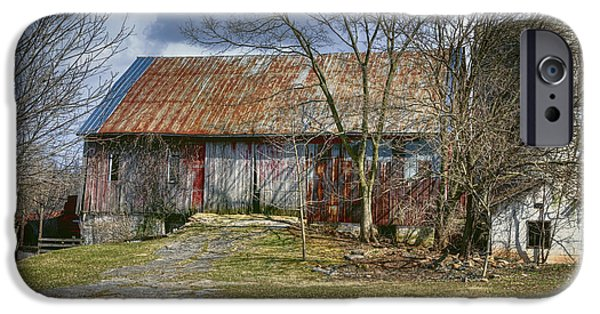 Old Barns iPhone Cases - Thurmont Barn iPhone Case by Joan Carroll