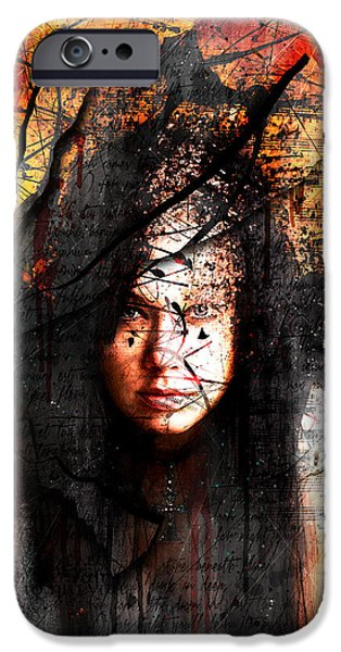 Mercy iPhone Cases - Thy Sins Like Scarlet iPhone Case by Gary Bodnar