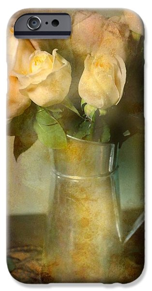 Still Life With Pitcher iPhone Cases - Ti Amo iPhone Case by Diana Angstadt