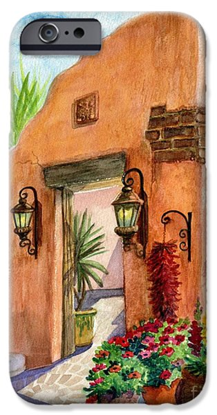 Terra Paintings iPhone Cases - Tia Rosa Time iPhone Case by Marilyn Smith