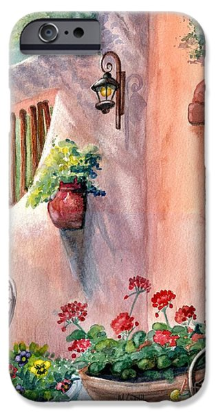 Marilyn Smith Paintings iPhone Cases - Tia Rosas iPhone Case by Marilyn Smith
