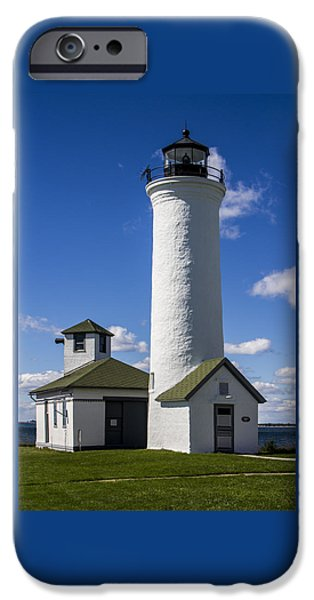Tibbetts Point Lighthouse iPhone Case by Ben and Raisa Gertsberg