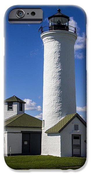 Raisa Gertsberg iPhone Cases - Tibbetts Point Lighthouse iPhone Case by Ben and Raisa Gertsberg