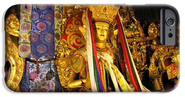 Tibetan Buddhism iPhone Cases - Tibet - Lhasa - Tibetan Buddhism iPhone Case by Jacqueline M Lewis